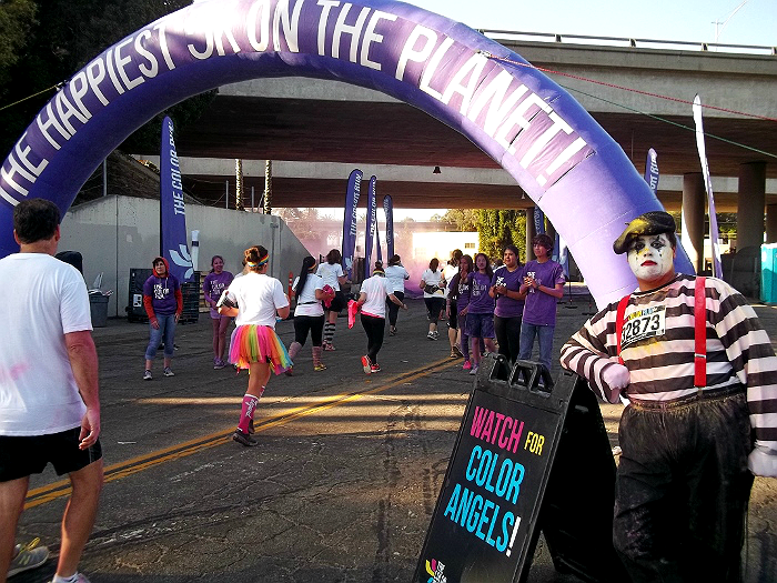 The Color Run Ventura, CA 2014 Purple Mime