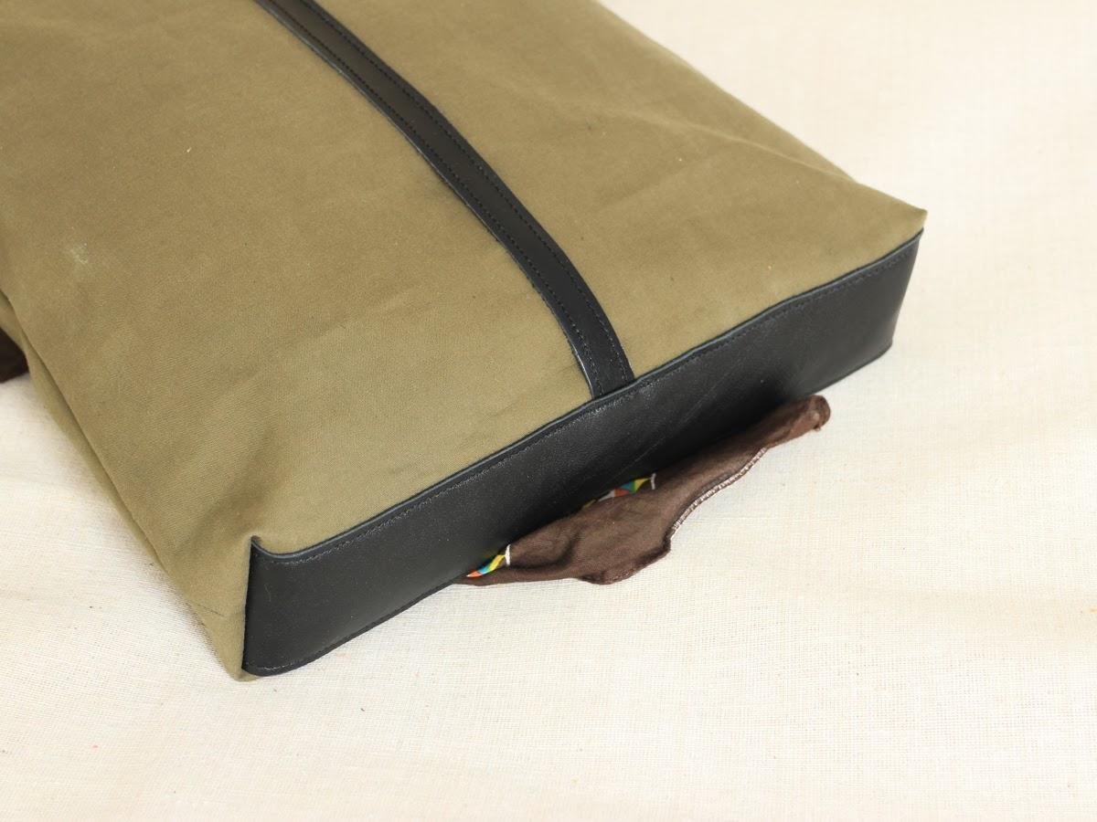 Комбинированная сумка с кожаным дном