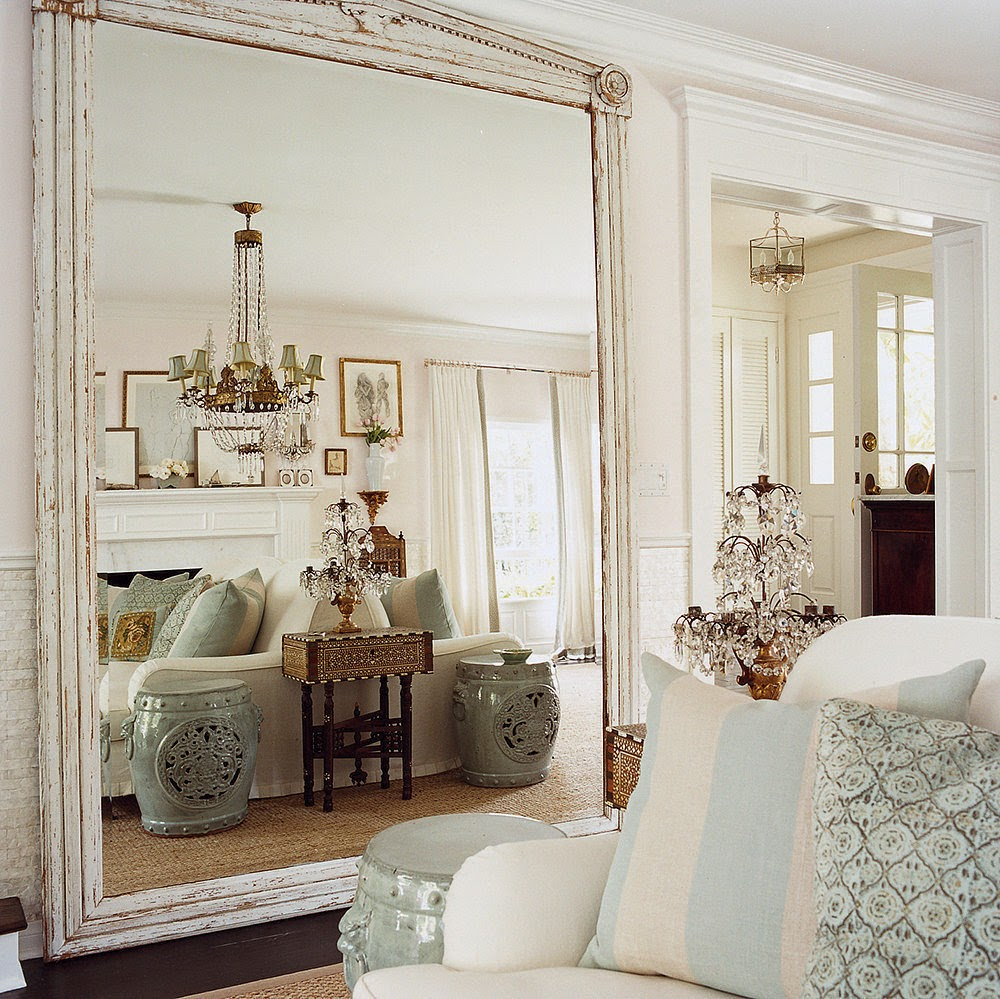 Sure fit slipcovers decorating with mirrors for Large bedroom mirror