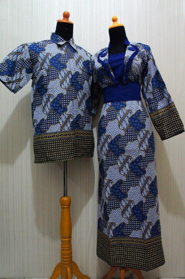 Baju Grosir Jogja Sarimbit Batik Formal Sbf Biru Sold