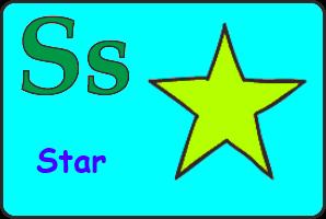 Карточка английской буквы S