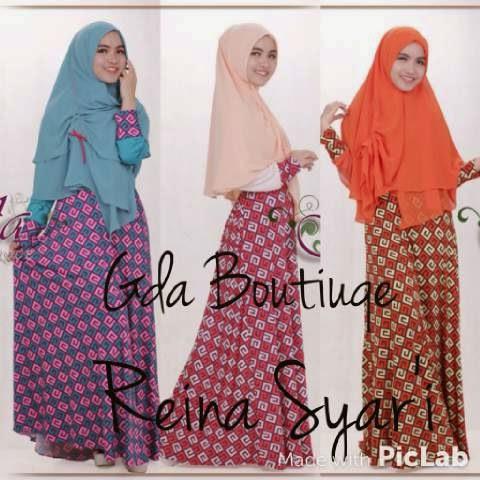 Baju Muslim Putih Online Reina Syar By Gda Boutique