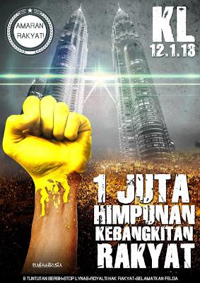 himpunan kebangkitan rakyat 12 1 2013