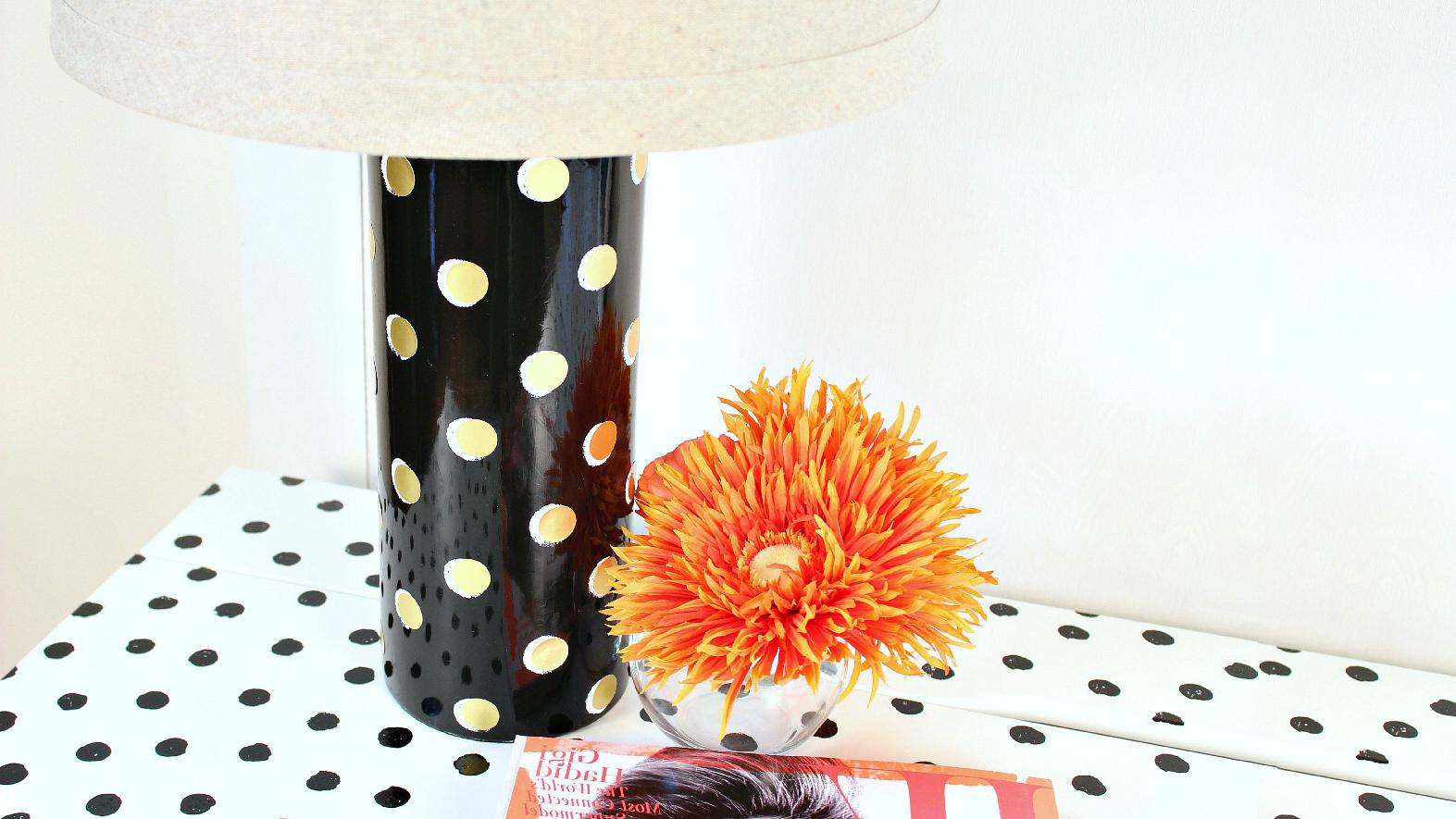 kate spade lamp elsie my beautiful polka dot kate spade inspired lamp mark montano lamp diy