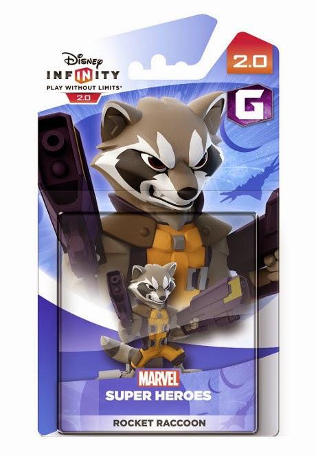TOYS : JUGUETES - DISNEY Infinity 2.0  Rocket Raccoon : Muñeco | Figura  MARVEL Super Heroes - Guardianes de la Galaxia   (Disney - 19 septiembre 2014)  Producto Oficial | Videojuegos | A partir de 7 años PlayStation 4, Nintendo Wii U, PlayStation 3, Xbox 360, Xbox One