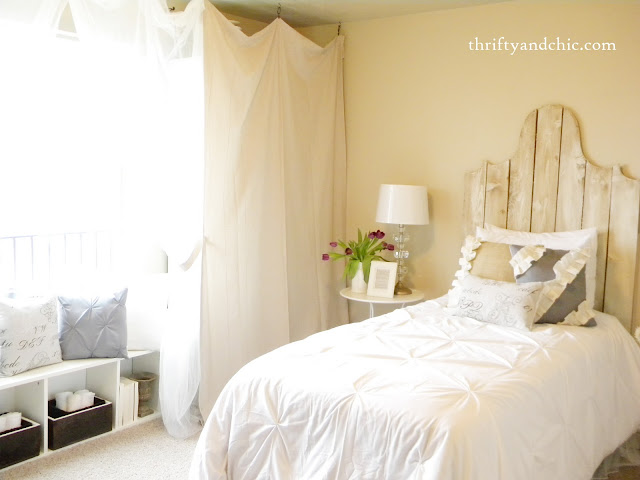 neutral guest bedroom