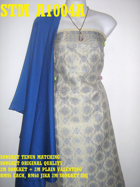STM A1004A: SONGKET TENUN MATCHING, HIGH QUALITY, 2M SONGKET + 2M PLAIN