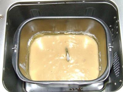 Massa do bolo de limão, batida na MFP