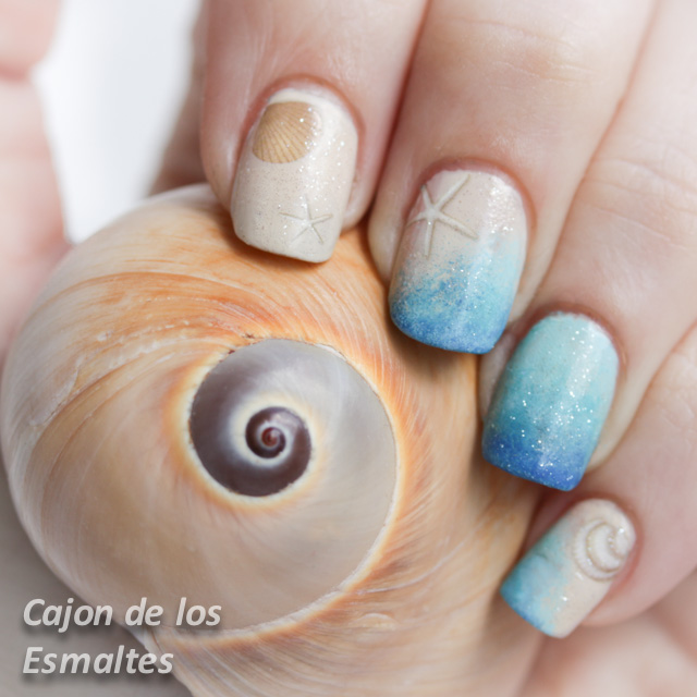 Decoraci n de u as para playa summer nail art challenge - Decoracion de unas gel ...