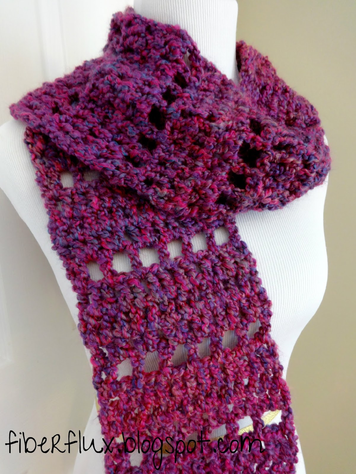 Free Crochet Patterns Homespun Yarn : Fiber Flux: Free Crochet Pattern...Mulberry Scarf!