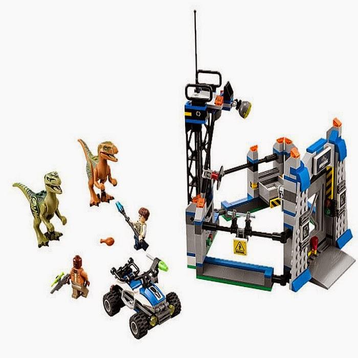 JUGUETES - LEGO Jurassic World  75920 Raptor Escape | Fuga del Velociraptor  Toys | Producto Oficial Película 2015  Piezas: 394 | Edad: 6-12 años