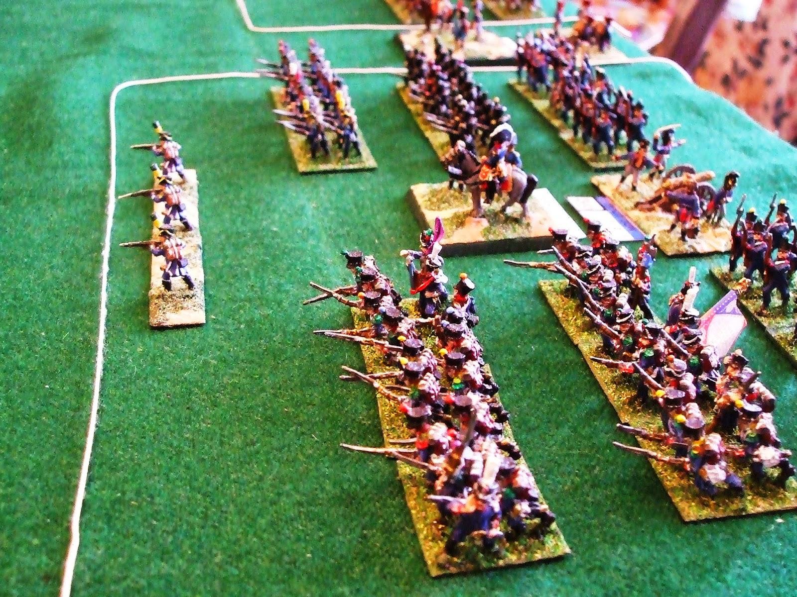 Wargame amateur st amand a shako scenario for Domon waterloo