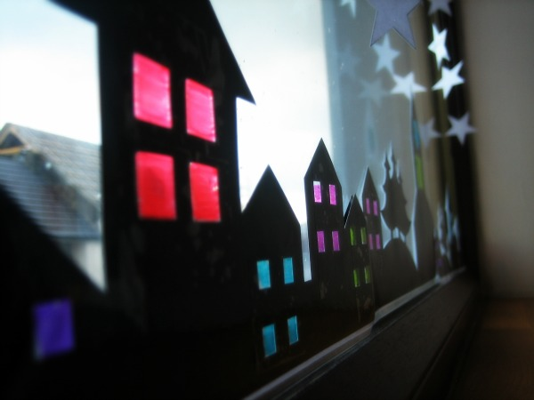 Village Window Decoration - Our Handmade Home