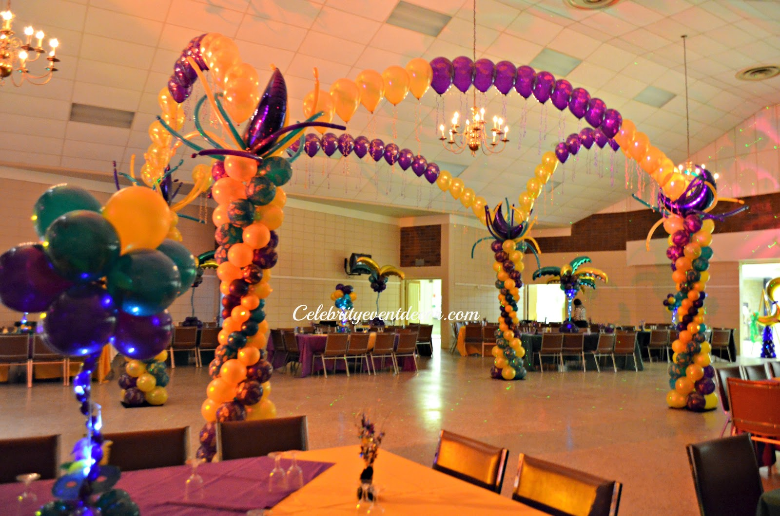 Celebrity event decor banquet hall llc for Balloon dance floor decoration