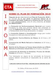 SOBRE EL PLAN DE FORMACIÓN 2019