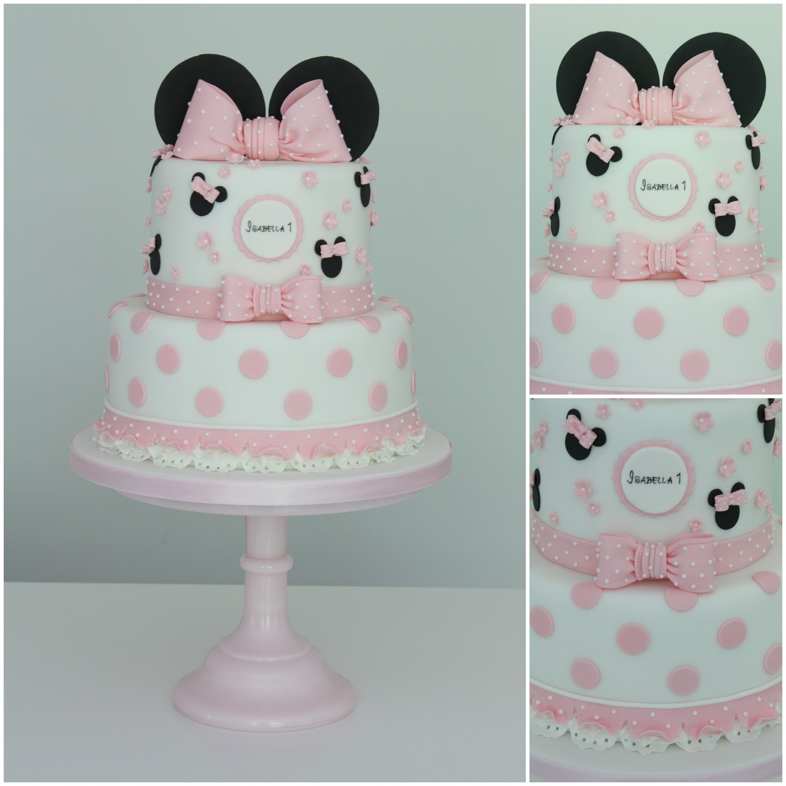 Tiers Tiaras Isabellas Minnie Mouse Birthday Cake