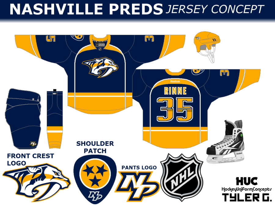 Nashville Predators concept (by Tyler G.)