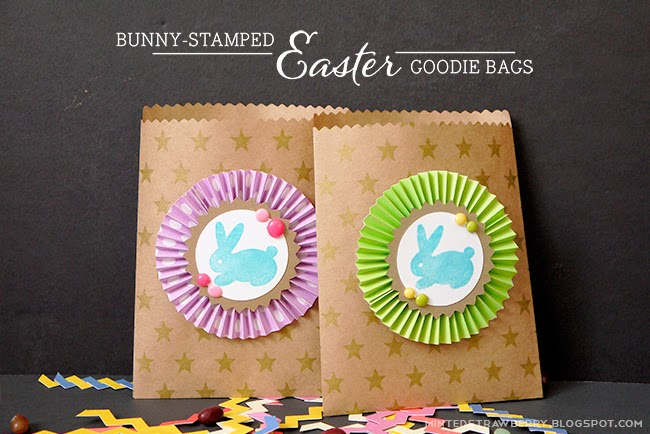 Diy bunny stamped goodie bags for easter minted strawberry negle Choice Image