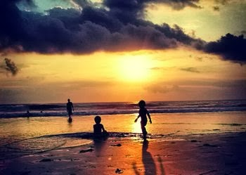 Sunset in Seminyak Beach Bali