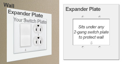 2-Gang Switch Plate Expander for Wall
