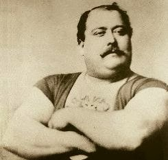 Louis Cyr - Front pic - Huge Biceps