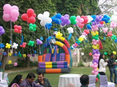 Fun recreation and leisure birthday party ideas with for Balloon decoration ideas for 1st birthday party