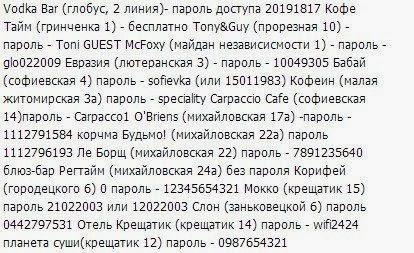 пользователи активно делились картинками с адресами и паролями доступных точек Wi-Fi.
