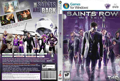 Saints Row The Third PC DVD Capa