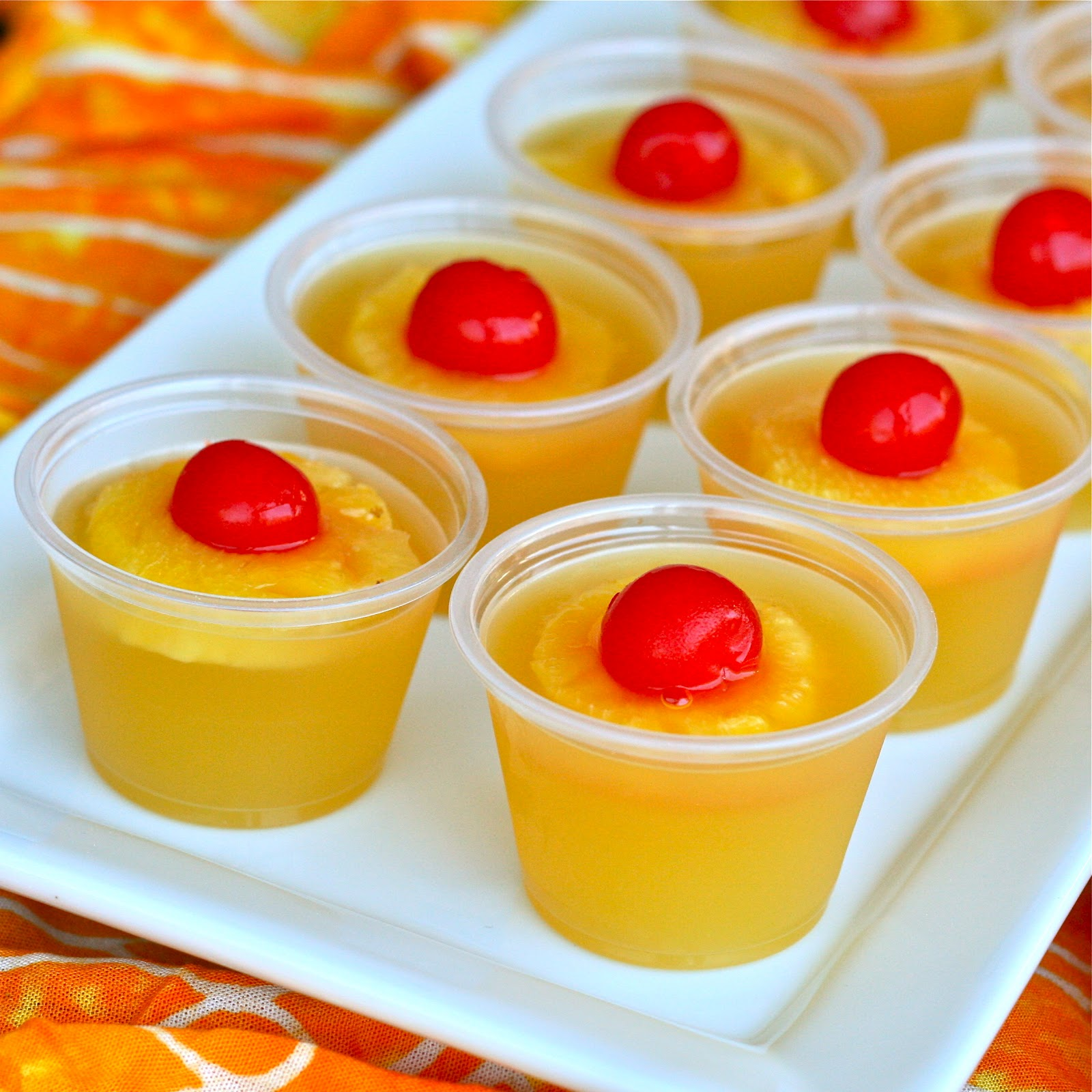 Jello shots with fruit inside -