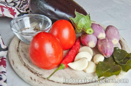 Auberginen Tomatensoße rezept indonesisch kochen