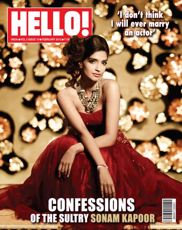 Sonam Kapoor Hello cover Scan1 - Sonam Kapoor Hello! India Coverpage February 2012