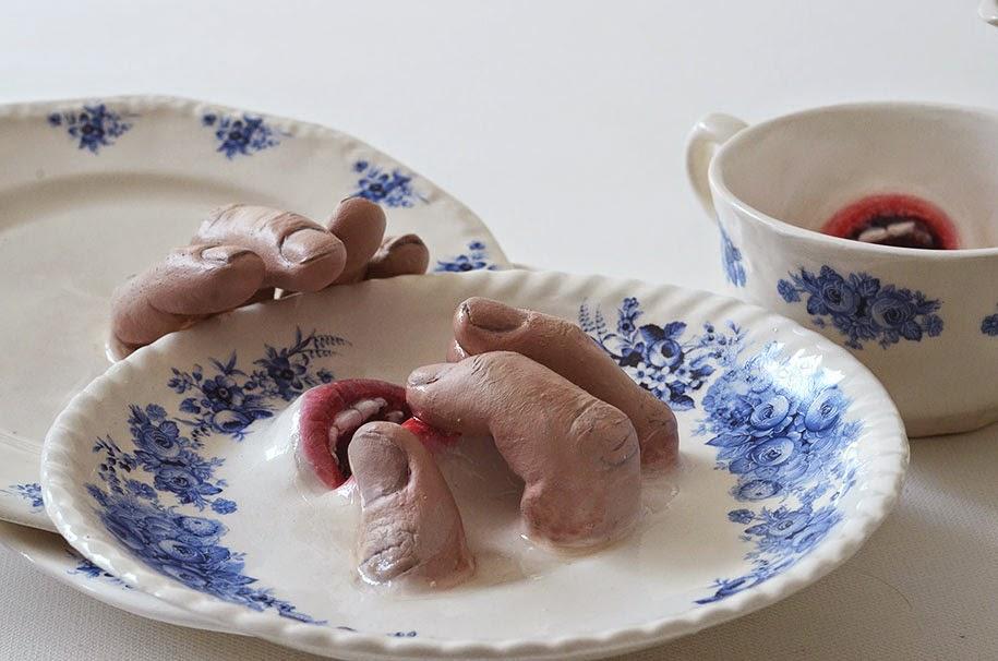 creepy ceramic tableware ronit baranga