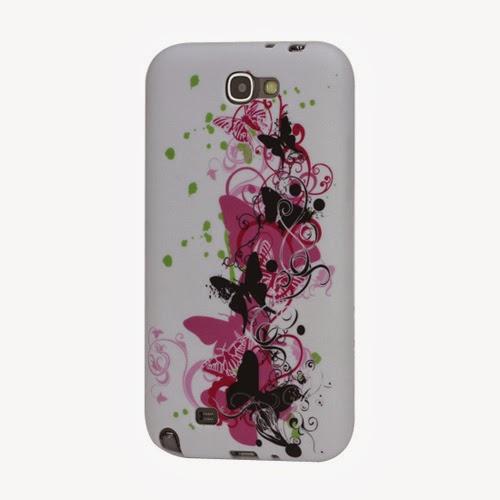 Pretty Butterflies TPU Jelly Case for Samsung Galaxy Note 2 / II N7100
