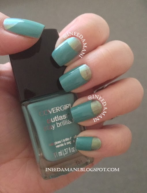 cover girl outlast mint mojito half moon nails
