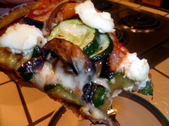 LEMON CHIFFON CAKE: Roasted Vegetable and Ricotta Pizza