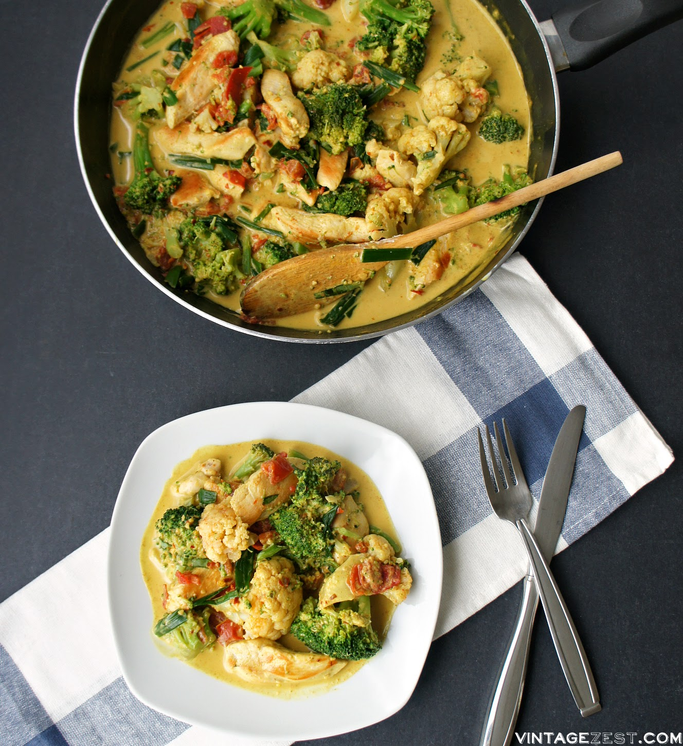Chicken & Veggie Coconut Curry on Diane's Vintage Zest!  #recipe #healthy