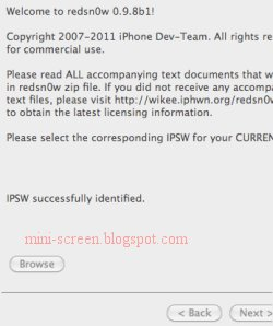 Jailbreak on iPhone's iOS 5 beta: Redsnow