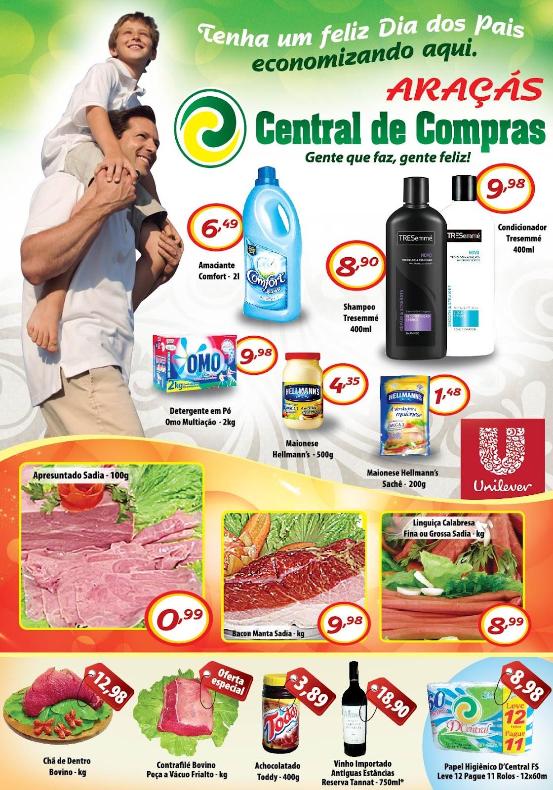 Rg marketing e propaganda folheto central de compras ara s - Central de compras web ...