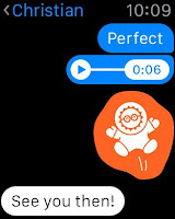 صورة من المحادثات في التطبيق