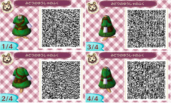 Animal Crossing: New Leaf: Link (Zelda) Outfit QR Code for ...