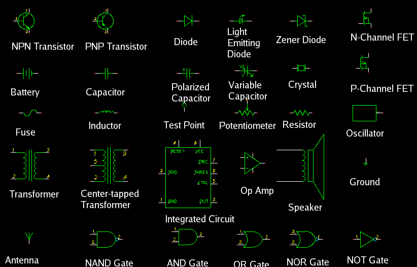 Electrical Electronics Engineering Basic Electronics Symbols