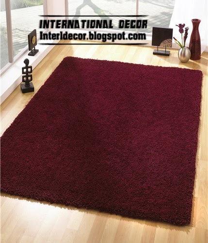 Modern Turkish Carpet Rug Model In Dark Red Color