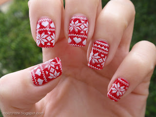 nailz craze nc03 red christmas sweater pattern stamping plate winter nails