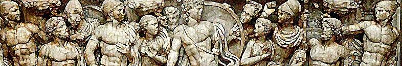 Friso de Aquiles. Un héroe clásico que también tuvo un coach, Quirón.