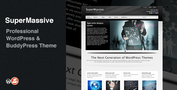 SuperMassive Professional WordPress BuddyPress Theme v4.5 [ 4 M B ...