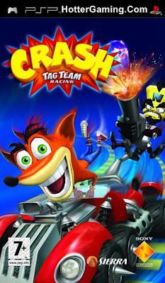 Free Downlaod Crash Tag Team Racing Psp Game Cover Photo