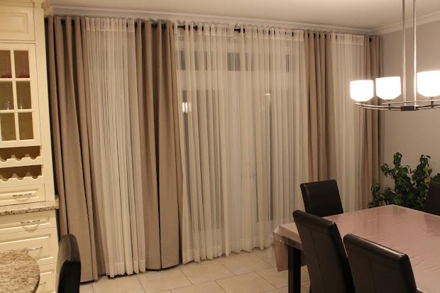 Custom Interiors: Dramatic wall of curtains
