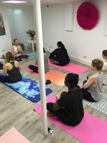 Bloggeration workshop yoga class