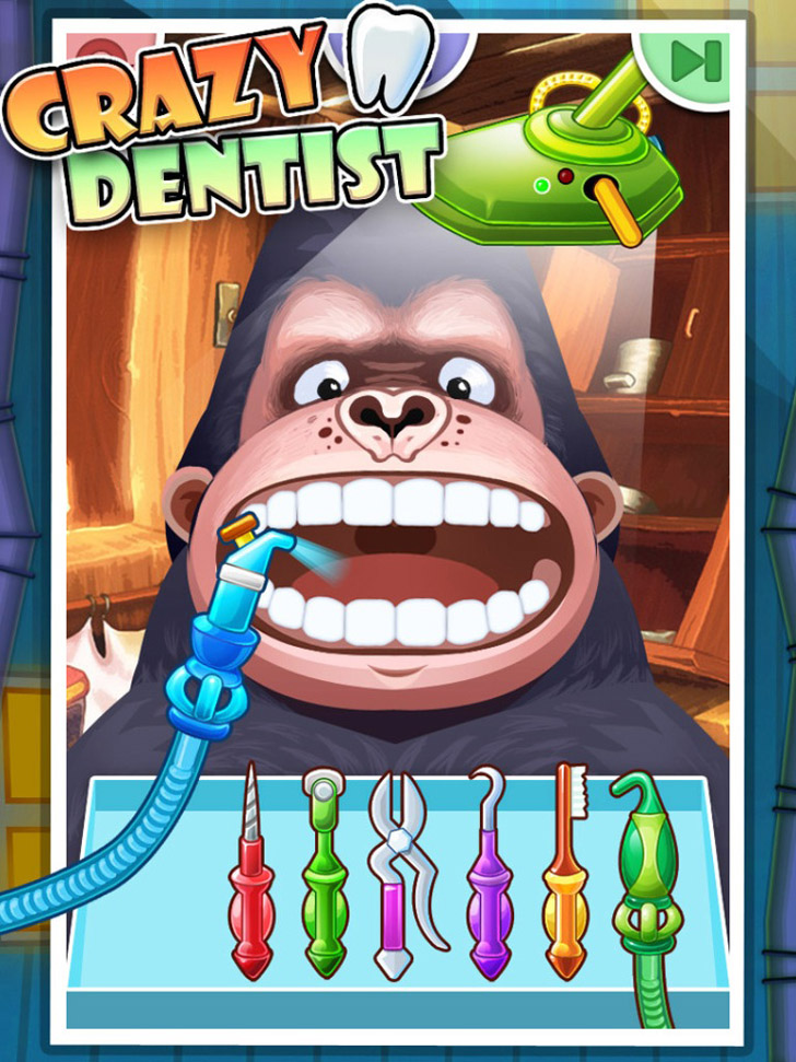 Crazy Dentist - Kids games App iTunes Google Play App By George CL - FreeApps.ws