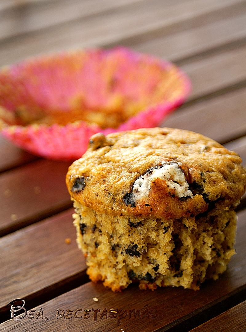 Muffins con galleta oreo